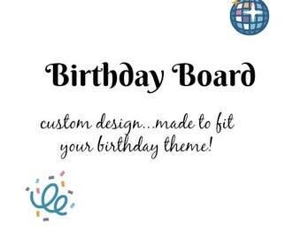 Customized Birthday Board