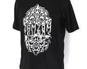 ZamZam Sounds Arabesques // WHITE print on Black TShirt // Roots and Culture // Dub // For Vinyl Lovers