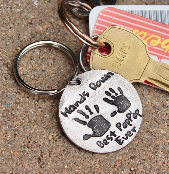 Real Handprints Keychain