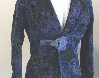 Diesel Floral Velvet Jacket  Size S