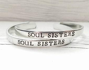 Soul Sisters Bracelet or Bracelets, Best Friend Bracelet or Bracelets, Bff Bracelet,