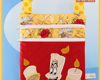 Disney Beauty and the Beast Luminere Small applique Cross body bag