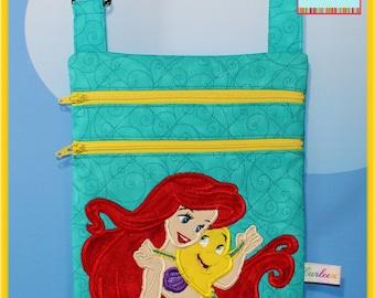 Small Disney Bag Applique Ariel and Flounder Cross body