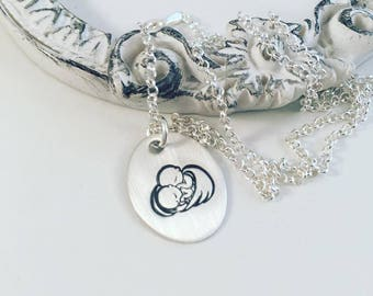 Sterling Silver Twin Angel Baby Loss Necklace - Twin Memorial Necklace - Baby Memorial Jewelry - Baby Loss Jewelry - Angel Jewelry