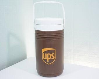 Vintage 90's UPS United Postal Service Issued Coleman Water Cooler - Jug, Pitcher, Travel, 5690