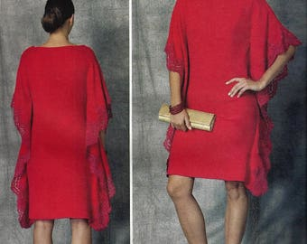 BELLVILLE SASSOON Vogue American Designer Original Pattern V1473 Misses Size 6-14 ~Misses ' Loose-Fitting, Pullover Dress  New