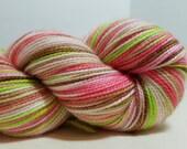 Hand Dyed Cashmere, Merino, Nylon fingering weight yarn, 400yds, 100g Sock yarn