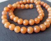 Orange Aventurine perles - 8mm - fil de 18 pouces