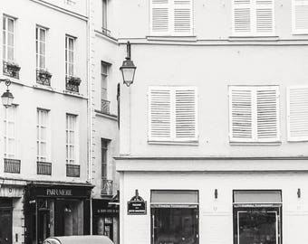 Paris Photo - Vintage Car in Saint Germain, Fine Art Photograph, Home Decor, Large Wall Art, Gallery Wall Art