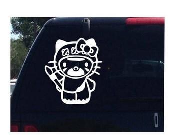 Ewok Hello Kitty Star Wars Car Decal