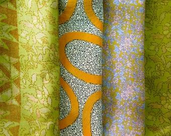 Fat Quarters, Silk Fabric, Sari Silk, FQ 181
