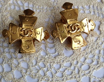 Chanel, Earrings, Vintage Jewellery, Rare, Genuine, Costume Jewellery, Wedding Jewellery, UK Seller, Designer Jewellery