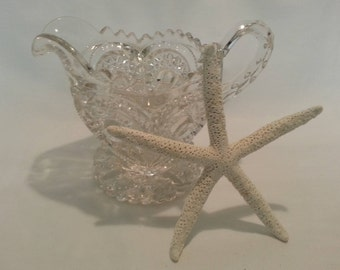 Vintage Footed Cut Glass Pitcher