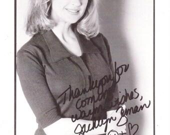 Vintage Jacklyn Zeman Autographed 8 1/2 x 5 1/2 Black And White Photograph, Super Soap, Weekend, November 8-9, 1997, General Hospital
