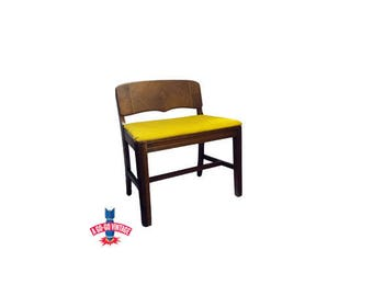 Vintage Vanity Bench, Art Deco Waterfall Bedroom Chair Dressing Stool