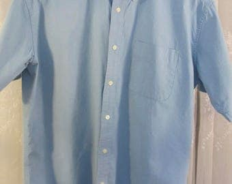 Vintage 90's Dockers  medium blue cotton shirt sleeve button down shirt L