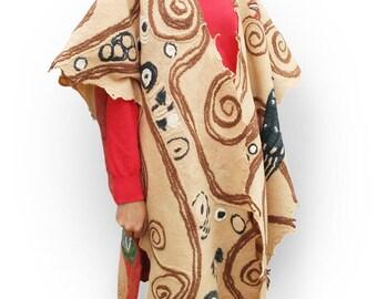 Ruana Klimt, woolen poncho Klimt