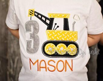 Construction birthday Shirt - Boys crane tshirt - Under Construction - Birthday shirt