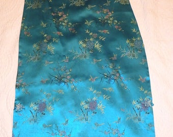 Asian Dress Cheongsam Turquoise Blue Size Small