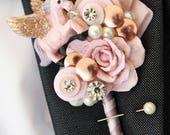 Whimsical Fairytale Unicorn, buttonhole, boutonnière, alternative, quirky, unicorn wedding, Unicorn wedding, corsage whimsical Custom colour