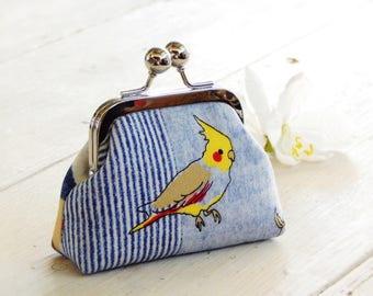 Metal frame coin purse, Bird coin purse