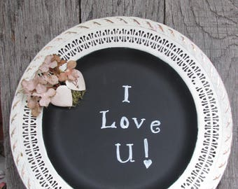Painted Silverplate Tray, Chalkboard Tray, Wedding Chalkboard Sign, Garden  Party Shower Chalkboard Sign