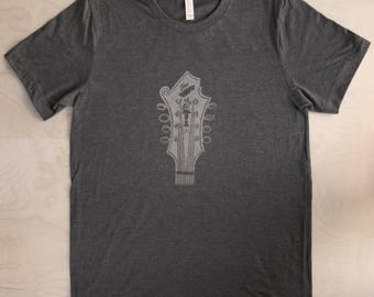 Bill Monroe Mandolin Tshirt ( DARK GRAY )