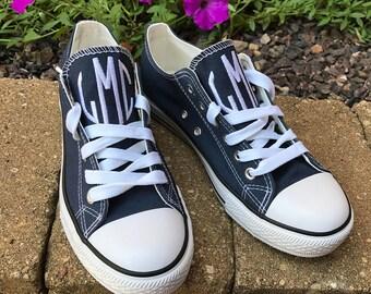 Monogram Tennis Shoes, Ladies Monogram Canvas Tennis Shoes, Ladies Monogram Canvas Sneakers