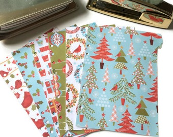 Set of 6 // A5 or Personal Planner Dividers // A5 Dividers // Personal Dividers // Christmas Planner Dividers // Christmas Dividers