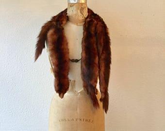 Menzel wrap | Vintage copper mink wrap wrap | 1940s mink fur stole