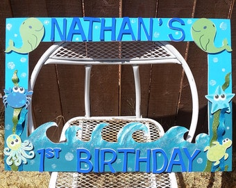 Whales Under the Sea or any theme you want Party Photo Prop Frame
