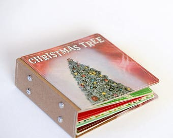 18 DVD Holder Art Book/ CD Wallet Handmade from Upcycled Album Cover- Christmas Edition, Ready to Ship