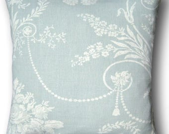 Handmade Cushion Cover Josette Duck Egg Pillow Blue - Home - New Home Decor - Gift - Throw Pillow - Soft Furnishings - Made in England