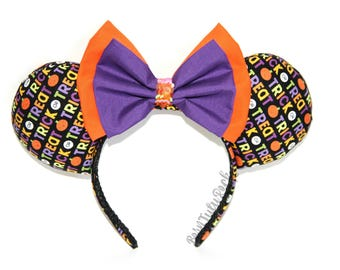 Trick or Treat Mouse Ears || Halloween Mouse Ears || Not so Scary Mouse Ears || by Born Tutu Rock