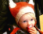 Fox Cub Hat for Kids Christmas gift fancy dress costume headdress, children's animal costume headwear for girls and boys