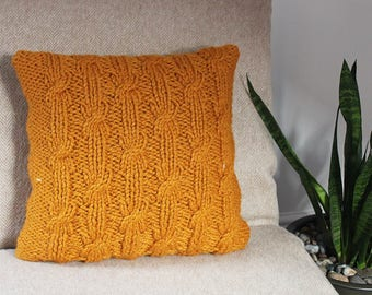 knitting pattern pillow cushion cover pattern homedecor patterns listing157