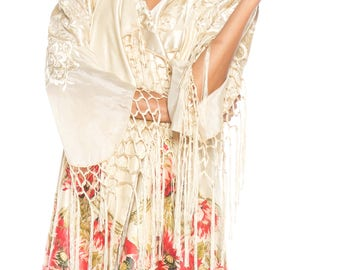 Morphew Lab Asian Silk Floral Print Jacket Size: 10