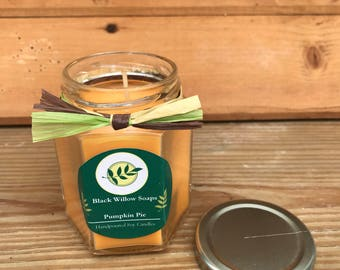 Pumpkin Pie Ecofriendly Candles, 6.5 ounces, Eco Friendly, Soy Wax Candle, Thanksgiving Candle, Gift for Her, Wife Gift, Fall Candle