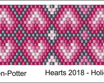 Heart2018 Peyote Pattern .PDF File