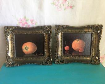 Vintage Print, Unique ornate frames, Small vintage prints, still life, Truart Frames copyrighted