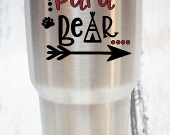 Papa bear, bear family decal, pop decal, father's day gift, papa bear decal, dad decal, dad gift, father decal, papa, gift for him, 3.5 inch