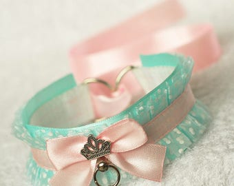 Little Princess - collar for pet play, age play, kitten play, ddlg, abdl, bdsm, lolita