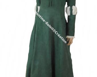 Medieval dress, custom, suede or other