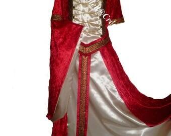 """Jason"" removable sleeve medieval dress."