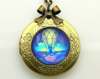 Hot air ballon Necklace locket  2020m