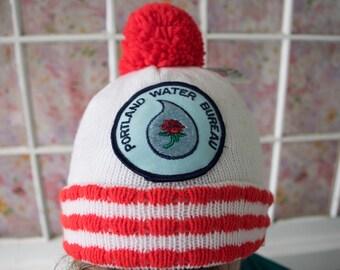 Vintage Portland Water Bureau Beanie Hat