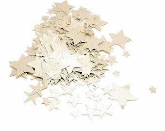 Star Confetti, Off White Confetti, Off White Star Confetti, Confetti Stars, Small Confetti, Paper Confetti, Small Stars, Table Confetti
