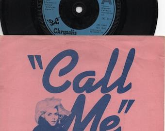 "BLONDIE Call Me 1980 Uk Issue Original 7"" 45 rpm Vinyl Single Record Debbie Harry Pop 80s new wave punk CHS2414"