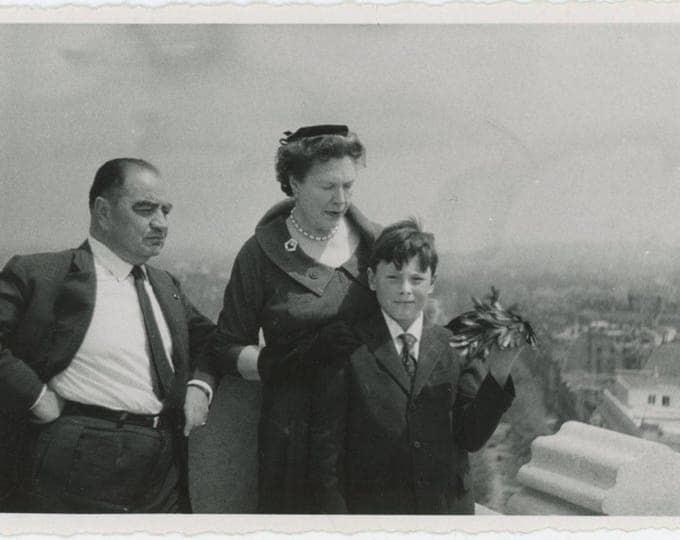 Arc de Triomphe, Paris, 1960: Vintage Snapshot Photo [82653]