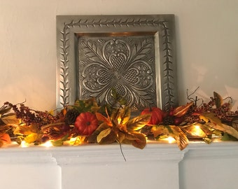 Fall Mantle Garland, Autumn Decor, Fall Garland, Pumpkin Garland, Shelf Garland, Fireplace Garland
